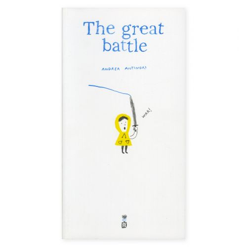 With The Great Battle, Andrea Antinori tells us how sometimes trying to defeat an uncontrollable enemy like the rain can be useless.  Corraini Edizioni Copertina