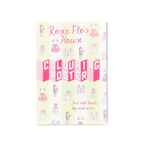 Rosie Flo's House colouring poster Roz Streeten | Steve Kamlish