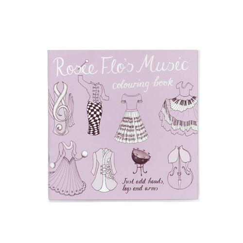 Rosie Flo's Music colouring book Roz Streeten | Steve Kamlish